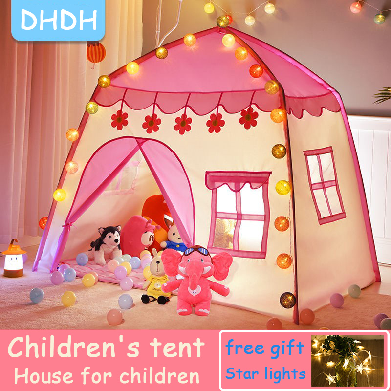 Children's Tent Indoor Outdoor Games Garden Tipi Princess Castle Folding Cubby Toys Tents  Enfant Room House Teepee Playhouse