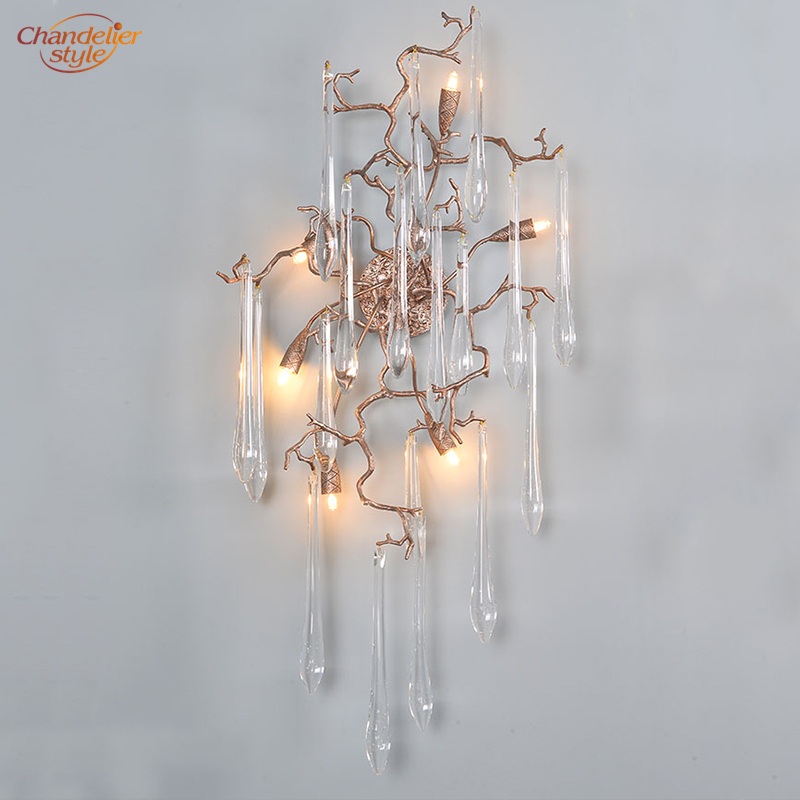 Led Copper Wall Lamp Br Tree Branch