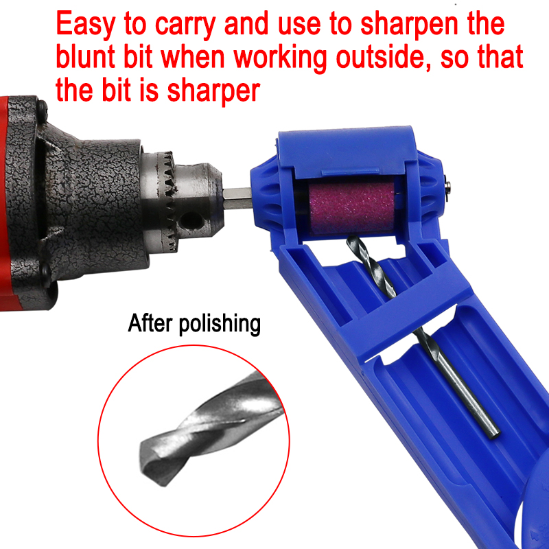 1set Portable Drill Bit Sharpener Corundum Grinding Wheel Drill Bit Sharpener Titanium Drill Powered Tool Parts Grinder Tools