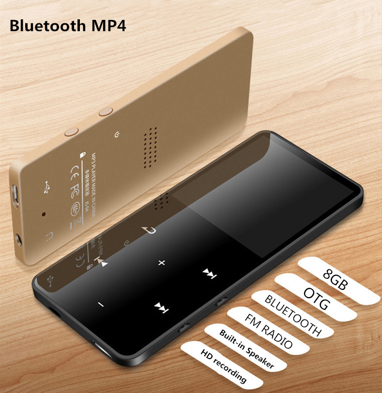 Bluetooth Mp3 Player 8gb OTG mp3 with Fm Radio SPEAKER Media 2.4 inch Touch Key MP3 music player MAX 128GB TF CARD