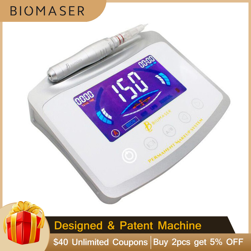 Biomaser X1 Digital Touch Permanent MakeUp Machine Pen Kit For Eyebrows Lips Eyes Complete Tattoo Pen Professional Machine