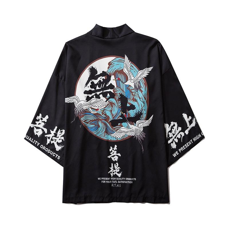 Summer Japan Streetwear Man Beach Kimono Cardigan Cosplay Shirt Blouse For Men Unisex Japanese Yukata Kimonos