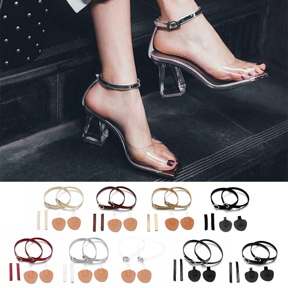 1Pair Fashion Adjustable Shoelaces For High Heels Shoe Belt Ankle Holding Loose Women Anti-skid Bundle Laces Tie Straps Band