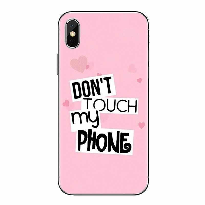 โทรศัพท์กรณีเชลล์ไม่ dont สัมผัสโทรศัพท์ของฉันสำหรับ Huawei P สมาร์ท Y6 P8 P9 P10 Plus Nova P20 lite Pro Mini 2017 SLA-L02 SLA-L22 2i