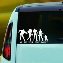 Zombie Family Sticker Decal incheswe Ate Your Stick Familyinches ( )(China)