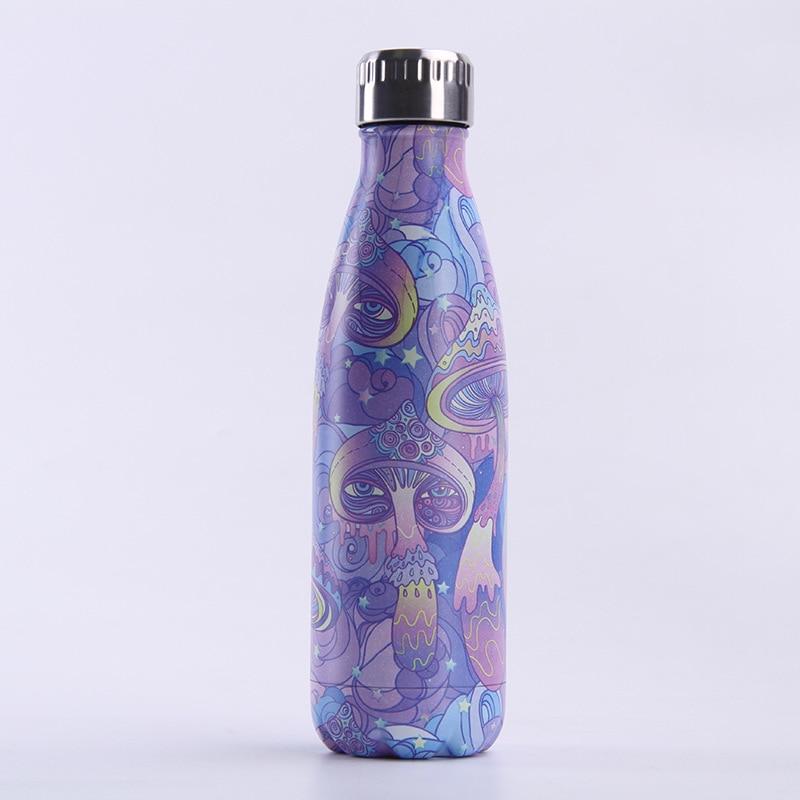 Water flask Jellyfish Stainless Steel Vacuum Flask Metal Water Bottle Jellyfish Print Marine Biology Professor Gift Jellyfish Art