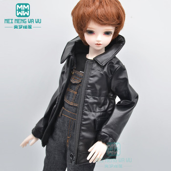 BJD doll accessories fits 43-45cm 1/4 MSD MK MYOU fashion leather clothes Denim overalls image