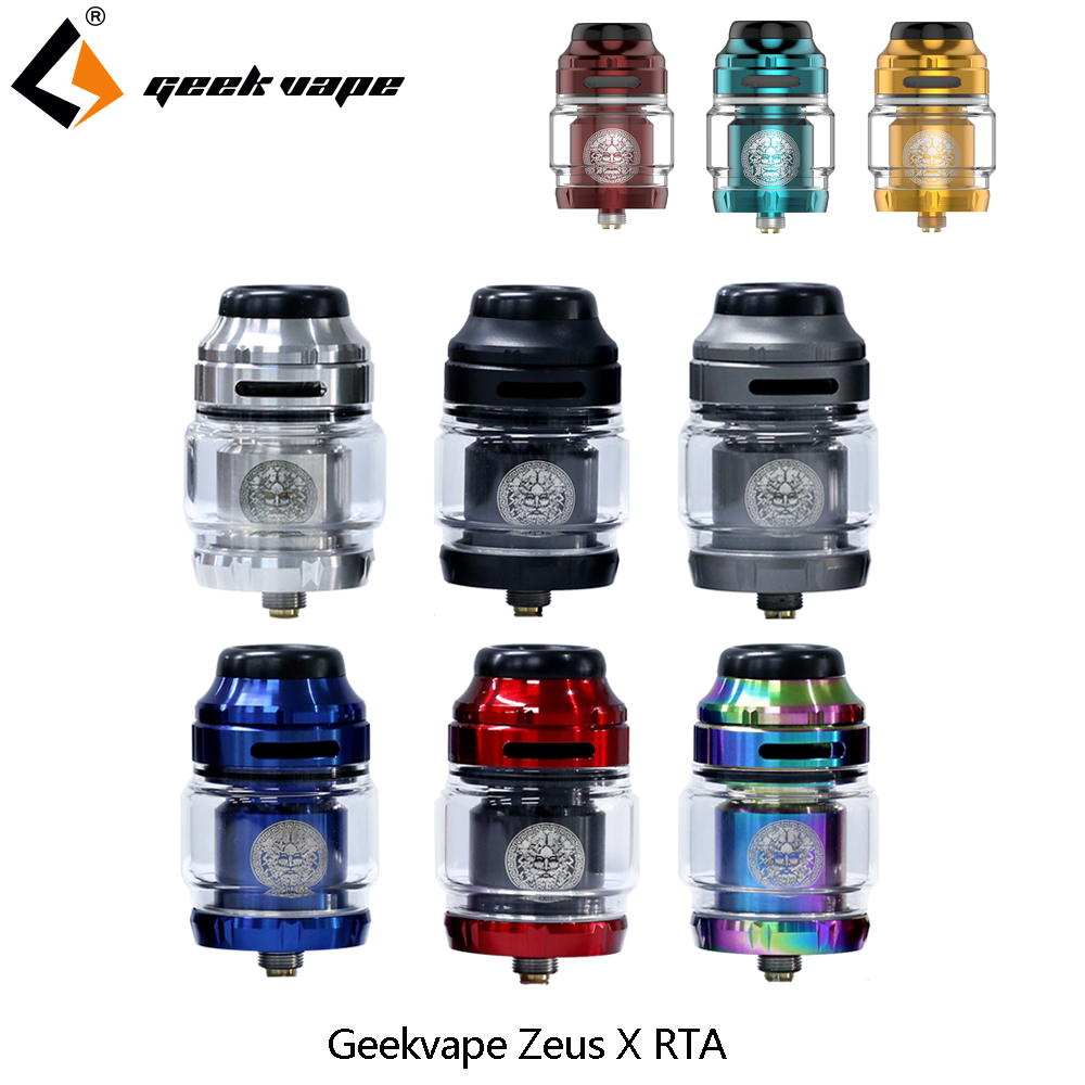 Vape Tank Geekvape Zeus X RTA 4.5ml Tank Capacity With 810 Delrin Drip Tip Electronic Cigarette Atomizer Vs Zeus Dual/AMMIT MTL