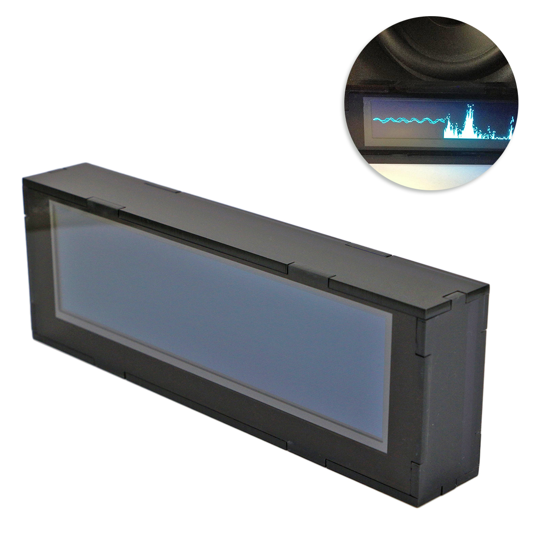DIY 3.12 Inches AS256 Professional Music Spectrum Display Car Amplifier Audio Modification OLED Level Balance Indicator
