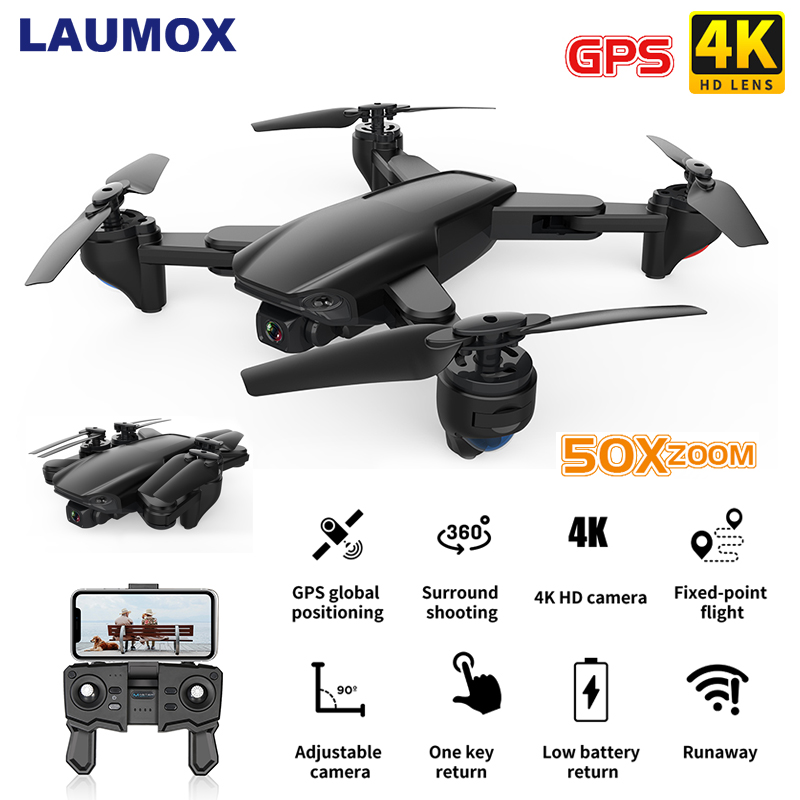 LAUMOX SG701 SG701S GPS Drone 5G WiFi FPV With 4K HD Camera Foldable 500M Control Distance 50x zoom RC Mini Quadcopter E520S