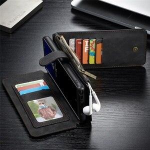 Image 3 - Cassa del Cuoio genuino per Samsung S20 Ultra S10 S9 S8 Nota 20 10 Più Del Raccoglitore Della Copertura per il iPhone SE 2020 11 Pro XS Max XR X 7 8 Caso
