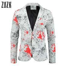 Пиджак мужской с цветочным принтом формальный пиджак повседневный