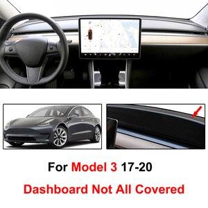 Image 2 - Xukey For Tesla Model3 Model 3 2017   2020 Dashmat Dashboard Cover Dash Mat Pad Sun Shade Dash Board Cover Carpet 2018 2019