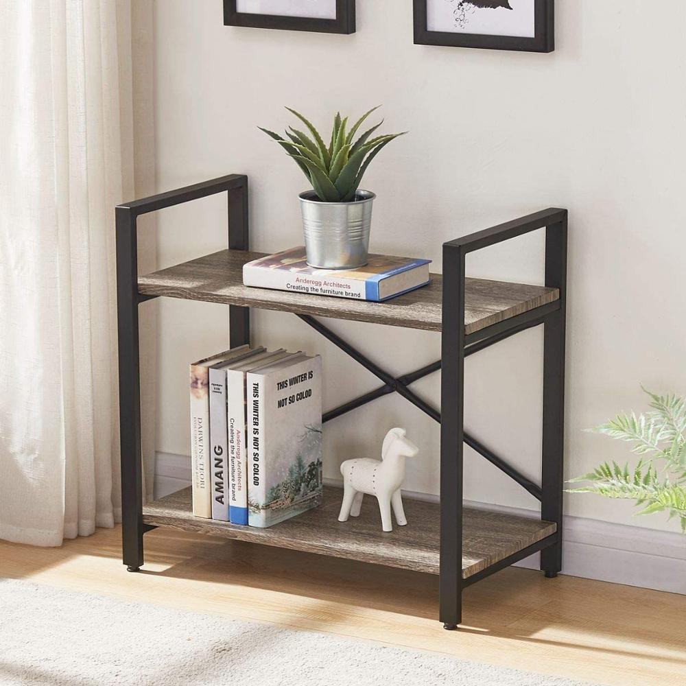 Bücherregal Tisch/Lagerung 2 Tier Bücherregal, Moderne Schmale Buch Regal und Buch Fall, industrie Holz Regale Einheit für Wohnzimmer