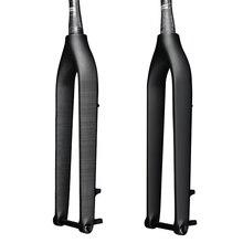 Передняя Велосипедная вилка из углеродного волокна 27,5/29er, жесткая вилка MTB, дисковый тормоз, передняя вилка 1-1 / 8'