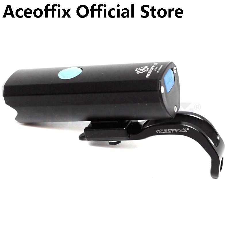 Aceoffix Front Light for Brompton Folding Bike Recharge 2600mAh 300 Lumens CNC Bike Light Bracket Holder