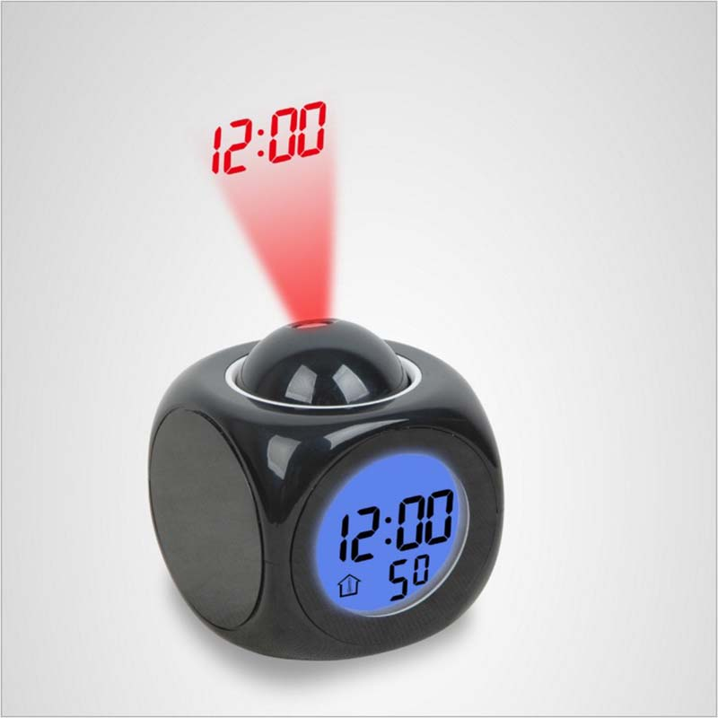 Projection LED Display Time Digital Alarm Clock Voice Prompt Thermometer RA85