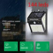 Goodland 144 LED lumière solaire lumineuse solaire etanche d'extérieur PIR motion capteur solaire lumière lampadaire pour la décoration de jardin
