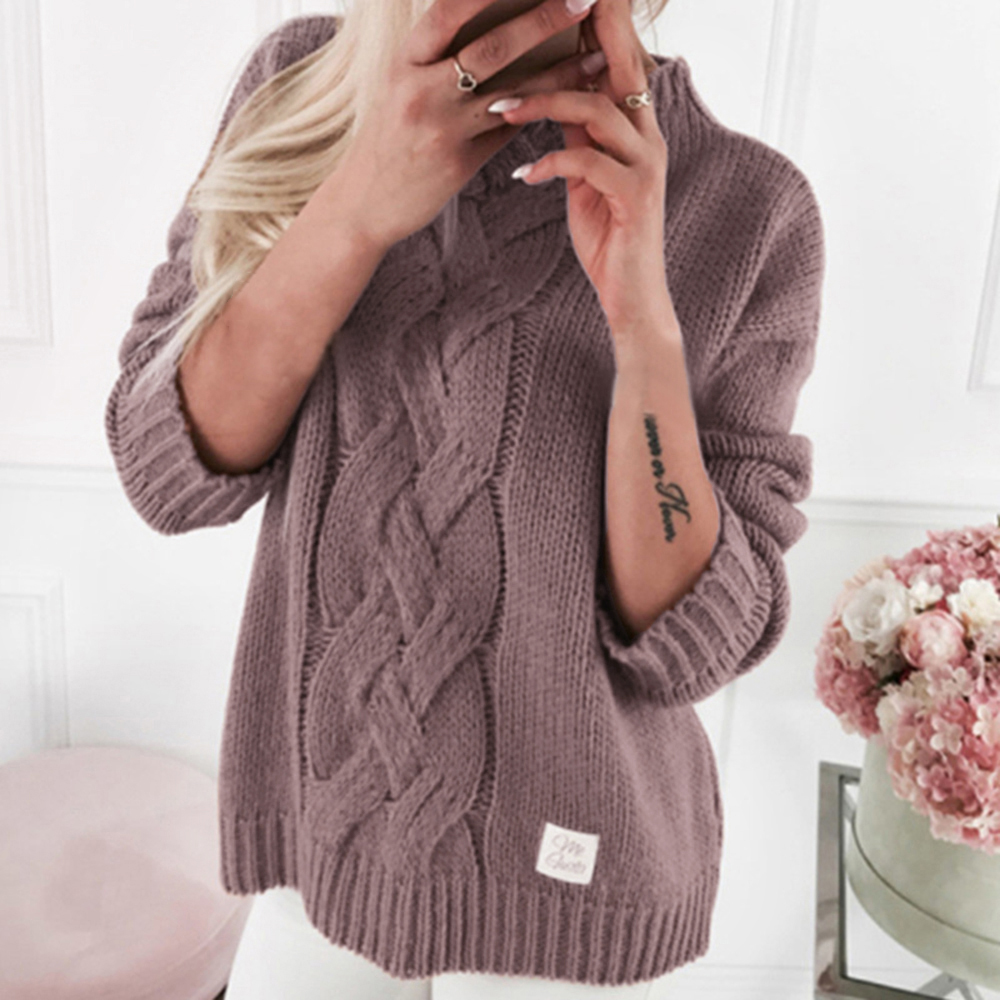 Women Turtleneck Sweaters 2019 Solid Color Sweater Jumpers Candy Color Harajuku Chic Short Twisted Sweater Dropshipping
