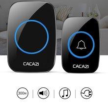 CACAZI New Wireless Doorbell Waterproof 300M Remote EU AU UK US Plug smart Door