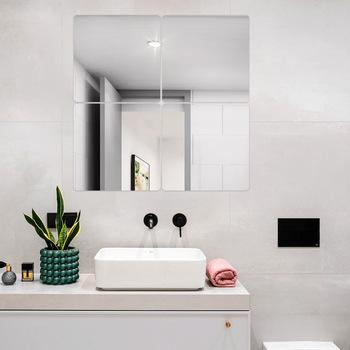 1 sztuk 20*20cm naklejki ścienne z efektem lustra dekoracyjne lustra ścienne duże do wystroju domu łazienka sypialnia salon nowoczesne akcesoria tanie i dobre opinie CN (pochodzenie) square JMT1 Z tworzywa sztucznego