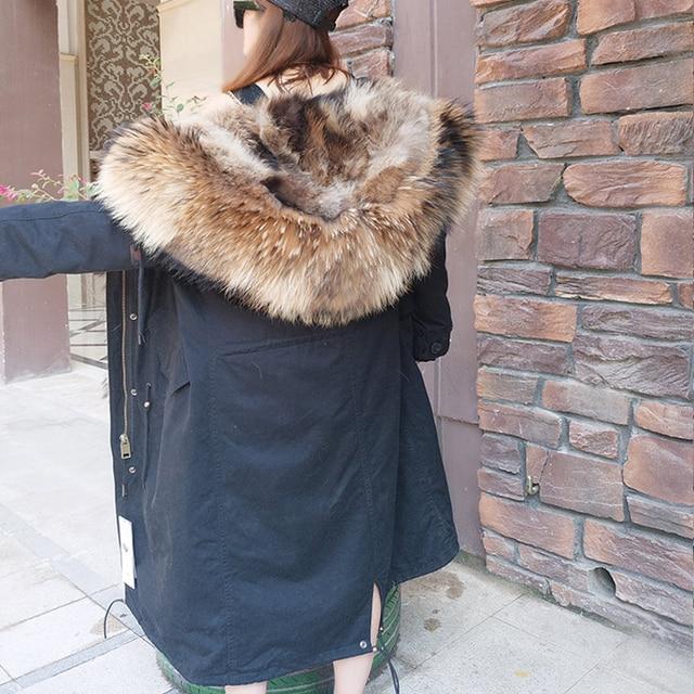 2019 hiver nouveau détachable scorpion fourrure col fourrure doublure veste femme hiver sur le genou plus long paragraphe à surmonter