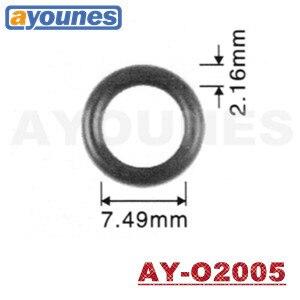 O envio gratuito de alta qualidade injector combustível oring 500 peças 7.49*2.16mm viton orings selos injeção combustível para toyota (AY-O2005)