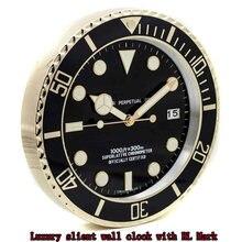 Luxe Ontwerp Rolexes Muur Horloges Klok Metal Art Grote Metalen Goedkope Wandklok