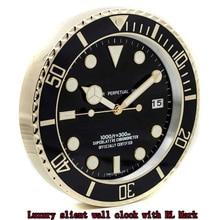 Luxury Design Rolexes Wall Watches Clock Metal Art Large Metal Cheap Wall Clock