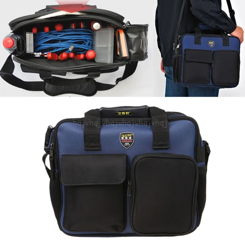 600D Repair Tool Kit Shoulder Bag Portable Handbag Storage Case Pouch Organizer With Reflective Strip For Worker Gardening S25