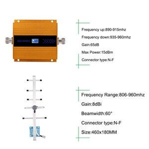 Image 5 - 65dB GSM مكرر 900MHz GSM موبايل هاتف محمول إشارة الخلوية مكبر صوت أحادي GSM 900 الداعم هوائي