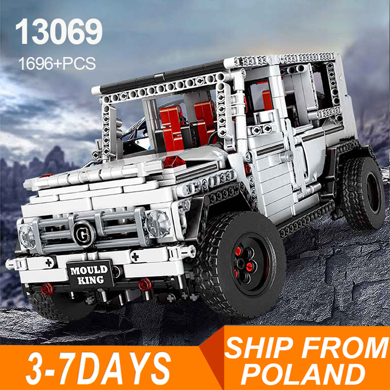 13069 Mercedes Large g moc Science And Technology Machinery Group off-Road Vehicle Assembling Building Blocks Static Car