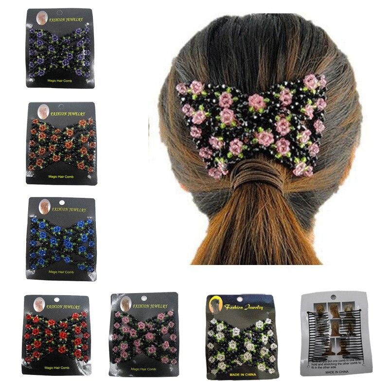 Fashion Hair Style Hairpin DIY Retro Elastic Magic Hair Comb Hair Changer Hairpin Magic Comb Female Hair Accessories