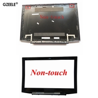 GZEELE new FOR Lenovo Y50 Y50 70 Lcd Rear Lid Top Case Back Cover 15.6 AM14R000400 Non Touch Lcd Front Bezel Cover