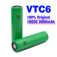 100% original VTC6 3,7V  3000 mAh Li-ion recargable 18650 batera vtc6 30A cigarrillo electrnico juguetes de her