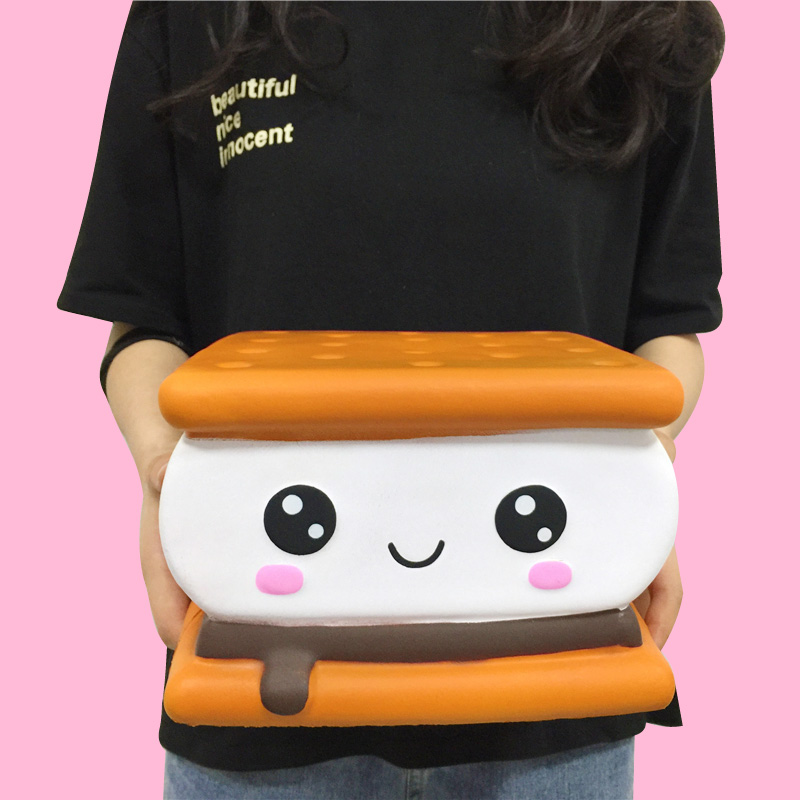 Chocolate Biscuits Cheese Cute Squishy Slow Rising Soft Squeeze Toy Phone Strap Scented Relieve Stress Funny  For Kid Xmas Gift