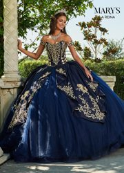 2020 Navy Luxuries Quinceanera Dresses Embroidery Sweetheart Ball Gown Girls Pageant Gowns Lace Up Back Sweet 16 Dresses
