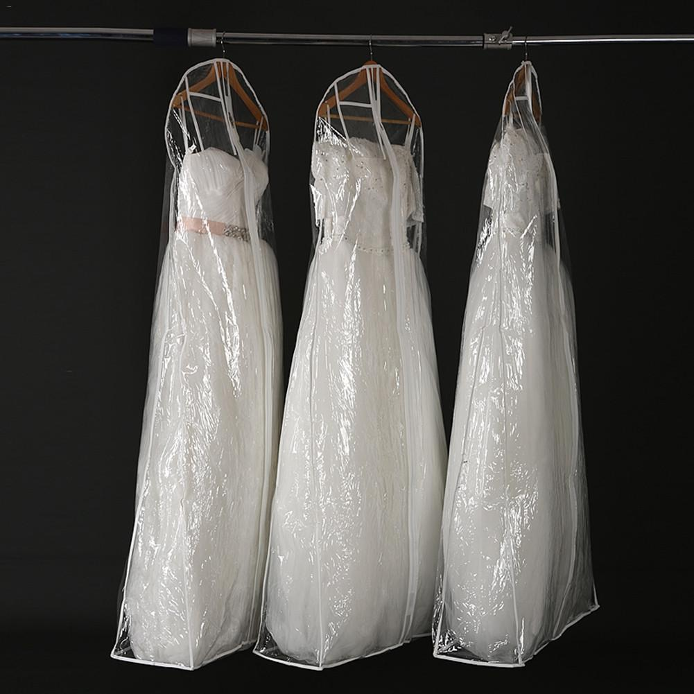 Transparent Garment Bridal Gown Long Clothes Protector Case Plastic Wedding Dress Cover Dustproof Covers Dress Storage Bag