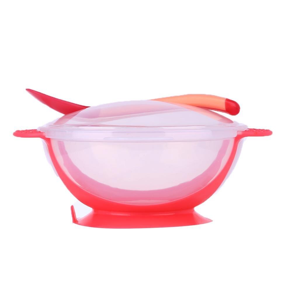 Креативная обучающая посуда для кормления ребенка, детская миска, миска для защиты от разлива, детская посуда для кормления, детская посуда для еды, Гироскопическая чаша для кормления - Цвет: D bowl Spoon cover