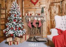 Vinyl Custom Photography Backdrops Prop Christmas day Christmas Tree Theme Photo Studio Background ST-13 free shipping 5ft 7ft 150cm 215cm photography backdrops christmas snow tree bell villa door background