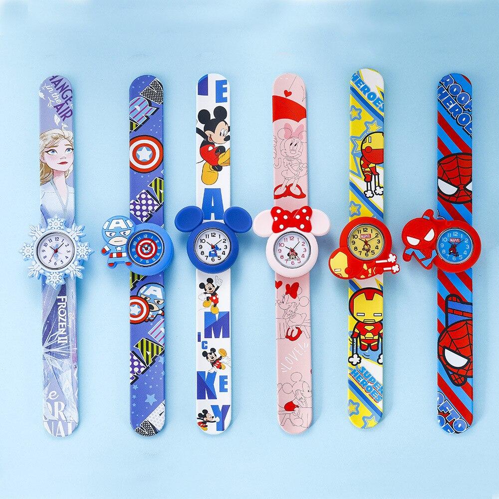 Дисней Мстители часы американец капитан изображение Дисней Микки дети% 27 часы Минни погладить часы