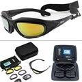 Солнцезащитные очки Мужские поляризационные с 4 линзами, тактические аксессуары для страйкбола, охоты, стрельбы, пустыни, в стиле милитари, ...