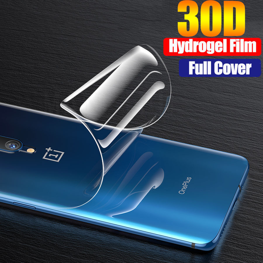 Filme de hidrogel 30d para oneplus 7 t 8 pro capa completa protetor de tela macia para oneplus 7 t 5 t 6 t um mais 6 8 transparente nenhum vidro