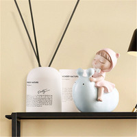 Modern Simple Cute Baby Rides Snail Balloon Dog Resin Craftwork Statue Fashion Living Room TV Cabinet Ornaments X2645