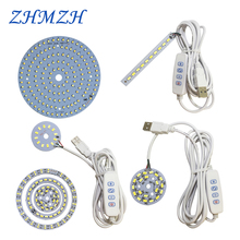 DC5V Dimmable LED chip 5W 6W 10W Surface Light Source SMD 5730 LED Light Beads DIY Tricolor Adjustable LED Bulb White Warm White cheap ZHMZH Round 80 lm 120 lm W 3000-6500K