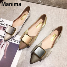 2020 new summer womens shoes fashion pointed flat party sense bottom with heel women