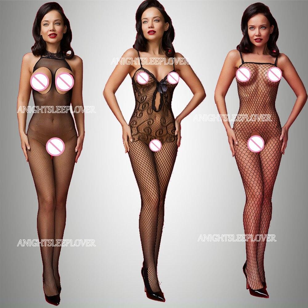 Нижнее белье, боди, нижнее белье, Женская пижама с открытой промежностью, сексуальное прозрачное Фетиш-эротическое нижнее белье, сексуально...