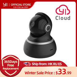 YI Dome Camera 1080P Pan/Tilt/Zoom Wireless IP Security Surveillance System Complete 360 Degree Coverage Night Vision