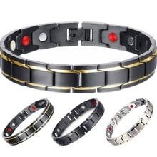 3 в 1 Мужской Энергетический Браслет для здоровья браслет для артрита витой Здоровый Магнитный браслет для женщин терапевтические магнитики