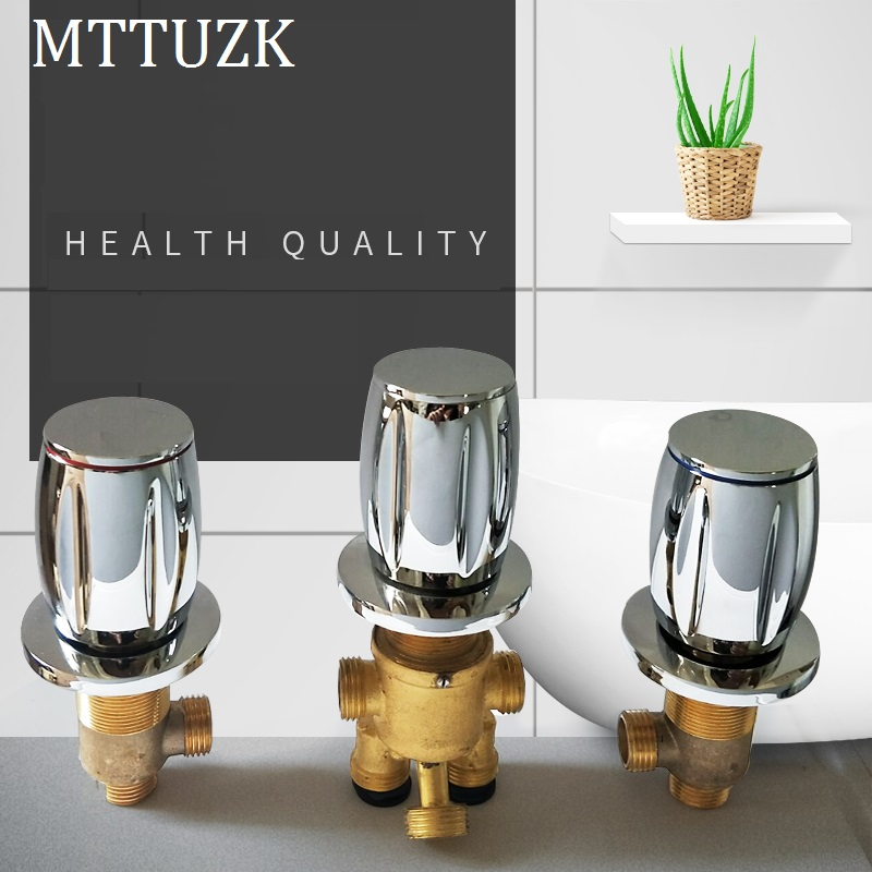 Jacuzzi Split Type Faucet 5 Hole Water Separator 2 In 3 Out Function Three Piece Set Hot And Cold Water Mixing Valve Switch